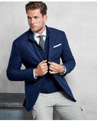 bb1bb854523 Lyst - Brooks Brothers Golden Fleece® Brown Rust Texture Sport Coat ...