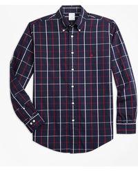 Brooks Brothers - Non-iron Regent Fit Double-windowpane Sport Shirt - Lyst