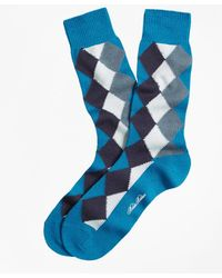 Brooks Brothers | Solid With Argyle Crew Socks | Lyst