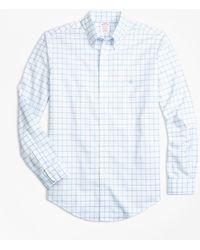 Brooks Brothers - Non-iron Madison Fit Windowpane Sport Shirt - Lyst
