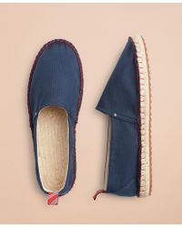 e15102b41d3 Lyst - Brooks Brothers Anchor-embroidered Canvas Espadrilles in Blue ...