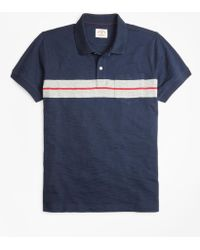 Brooks Brothers - Bold Stripe Cotton Jersey Polo Shirt - Lyst