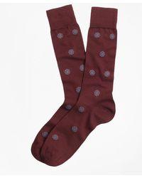 Brooks Brothers - Medallion Crew Socks - Lyst