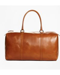 Brooks Brothers - Vegetable Tan Leather Duffle Bag - Lyst