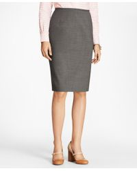 Brooks Brothers - Melange Stretch-wool Pencil Skirt - Lyst