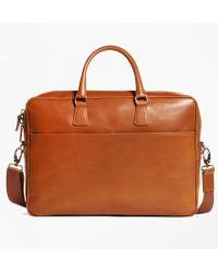 Brooks Brothers - Vegetable Tan Leather Briefcase - Lyst