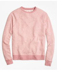 Brooks Brothers - Heathered Raglan Crewneck Sweatshirt - Lyst