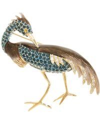 Brooks Brothers - Heron Audobon Brooch - Lyst