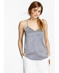 Brooks Brothers - Striped Silk Charmeuse Cami - Lyst