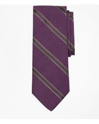Brooks Brothers - Textured Ground Double Framed Stripe Tie - Lyst