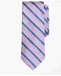 Brooks Brothers - Textured Ground Framed Stripe Tie - Lyst