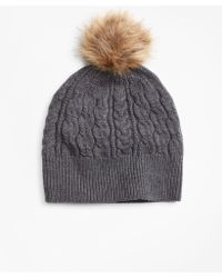 Brooks Brothers - Cable-knit Merino Wool Hat - Lyst