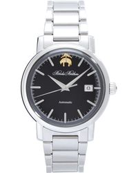 Brooks Brothers - Round Watch With Stainless Steel Band - Lyst