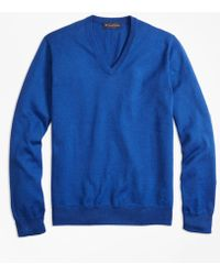 Brooks Brothers - Supima® Cotton V-neck Sweater - Lyst
