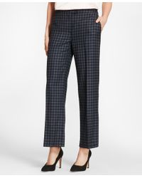 Brooks Brothers - Gingham Wool Twill Pants - Lyst