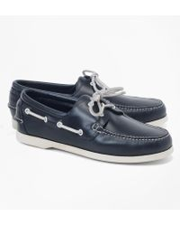 Brooks Brothers - Leather Boat Shoes - Lyst