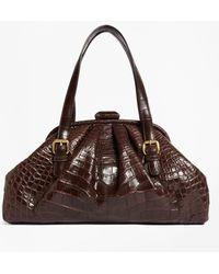Brooks Brothers - Alligator Soft Frame Bag - Lyst