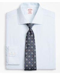 Brooks Brothers - Stretch Madison Classic-fit Dress Shirt, Non-iron Royal Oxford Framed Ground Stripe - Lyst