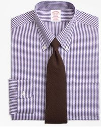 Brooks Brothers - Madison Classic-fit Dress Shirt, Non-iron Dobby Gingham - Lyst