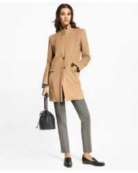 Brooks Brothers - Camel Hair Car Coat - Lyst