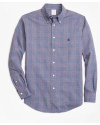 Brooks Brothers - Regent Fit Brushed Oxford Glen Plaid Sport Shirt - Lyst