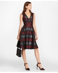 Brooks Brothers - Tartan Jacquard Dress - Lyst