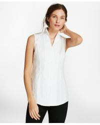 Brooks Brothers - Floral Cotton Jacquard Blouse - Lyst