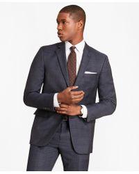 Brooks Brothers - Regent Fit Saxxontm Wool Blue Plaid 1818 Suit - Lyst
