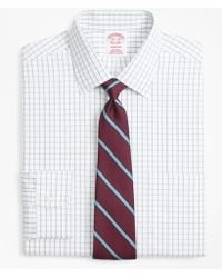 Brooks Brothers - Madison Classic-fit Dress Shirt, Non-iron Overcheck Windowpane - Lyst
