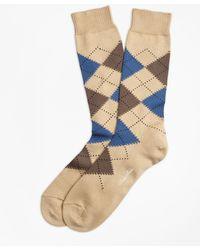 Brooks Brothers - Cotton Argyle Crew Socks - Lyst
