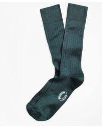 Brooks Brothers - Rib-knit Crew Socks - Lyst