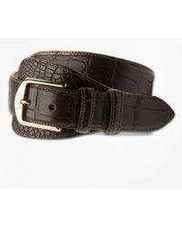 Brooks Brothers - Alligator Tab Belt - Lyst