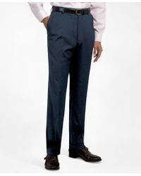 Brooks Brothers | Plain-front Suiting Essential Trousers | Lyst