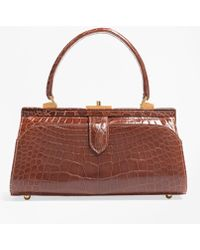 Brooks Brothers - Glazed Alligator Frame Bag - Lyst