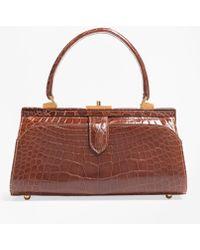 Brooks Brothers | Glazed Alligator Frame Bag | Lyst