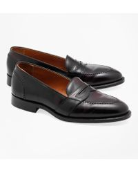 88035687666 Lyst - Brooks Brothers Cordovan Unlined Penny Loafers in Brown for Men