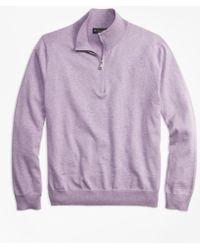 Brooks Brothers - Supima® Cotton Half-zip Jumper - Lyst