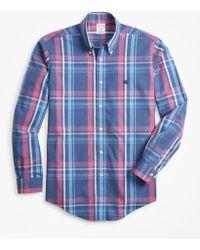 Brooks Brothers - Non-iron Regent Fit Plaid Sport Shirt - Lyst