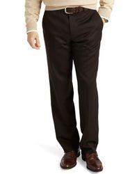 Brooks Brothers - Regent Fit Plain-front Classic Gabardine Trousers - Lyst