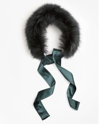 Brooks Brothers - Raccoon Fur Collar With Silk Crepe Ribbon Tie - Lyst