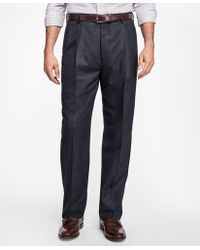 Brooks Brothers - Madison Fit Pleat-front Stretch Flannel Trousers - Lyst