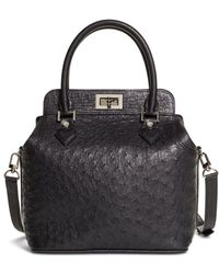 Brooks Brothers - Ostrich Top Handle Satchel - Lyst