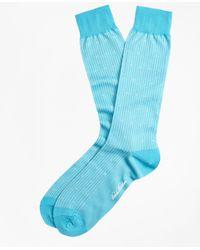 Brooks Brothers - Stripe Dot Crew Socks - Lyst