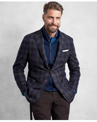 Brooks Brothers - Golden Fleece® Navy And Red Overplaid Sport Coat - Lyst