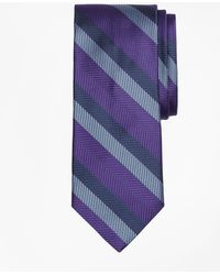 Brooks Brothers - Dotted Herringbone Stripe Tie - Lyst