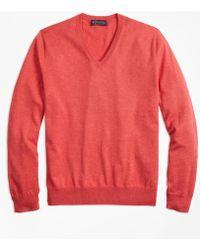 Brooks Brothers - Supima® Cotton V-neck Sweater - Lyst