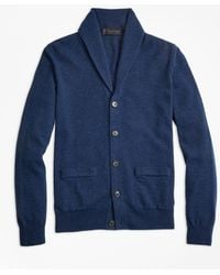 Brooks Brothers - Two-ply Cashmere Shawl Collar Cardigan - Lyst