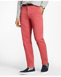Brooks Brothers - Garment-dyed Stretch Chinos - Lyst