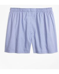 Brooks Brothers - Traditional Fit Micro-check Boxers - Lyst