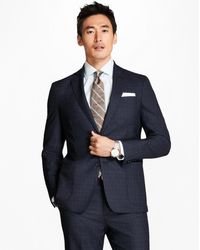 Brooks Brothers - Regent Fit Brookscloudtm Screen Weave With Windowpane 1818 Suit - Lyst